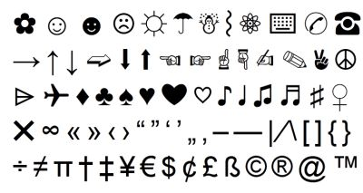 texting letters and symbols cool letter symbols