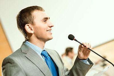 speaker-standing